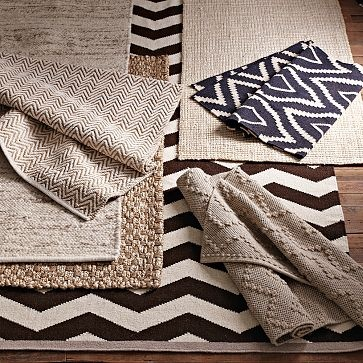 Patterned jute rugs! Options for living room