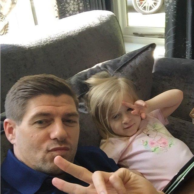 Steven Gerrard and Lourdes