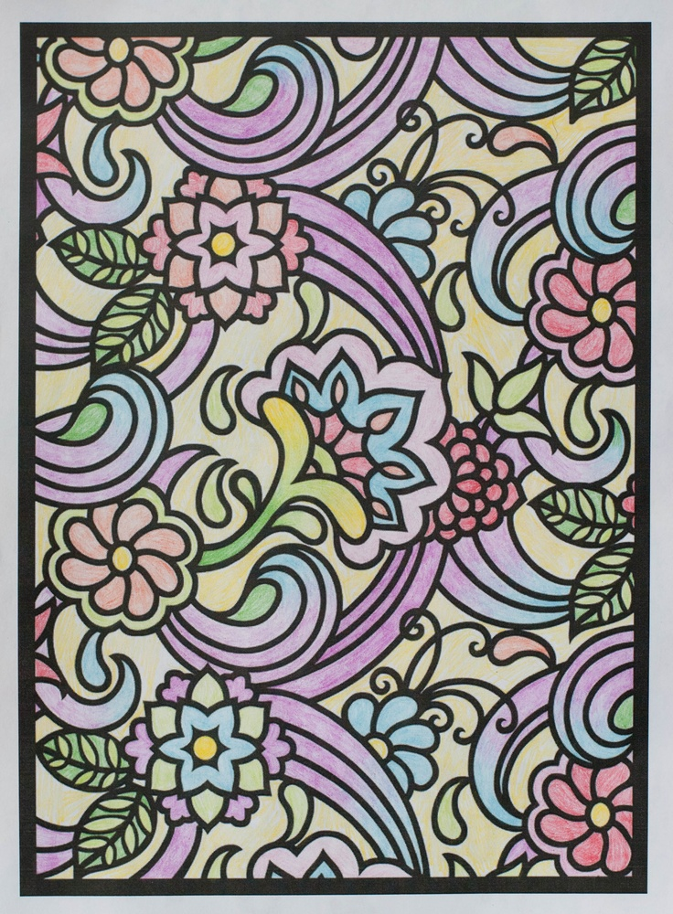 marah 12 18 division from paisley designs stained glass coloring book http - Html Color Sheet
