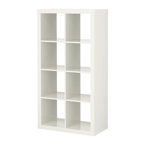 EXPEDIT Shelving unit - high-gloss white - IKEA