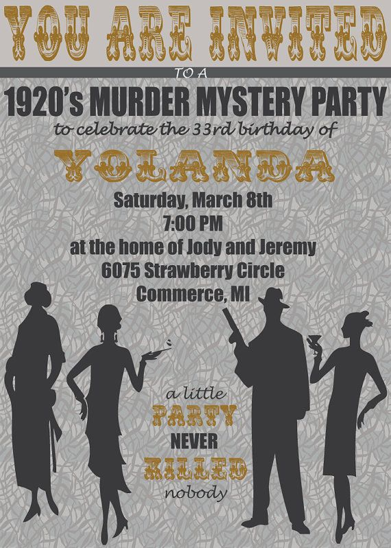 Awesome Murder Mystery Dinner Party Ideas Part - 9: Digital Murder Mystery Party Theme Invitation By Hannagraphics, $12.00