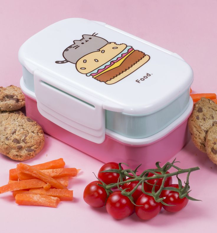 Pusheen Food Set Of 2 Lunch Boxes The all-important question - food...or more food?! This double Pusheen lunch box has enough space for all the grub you can get your paws on! It conveniently clips together, giving you a large, medium  http://www.MightGet.com/may-2017-1/unbranded-pusheen-food-set-of-2-lunch-boxes.asp