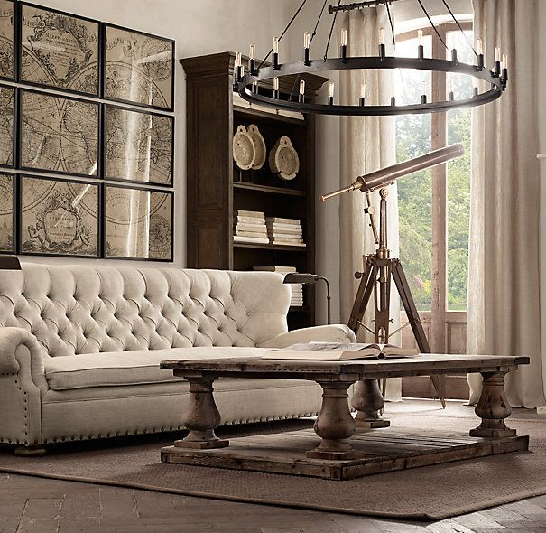"Restoration Hardware Uk Shipping: Camino Round Chandelier 50"" For Dining Room"