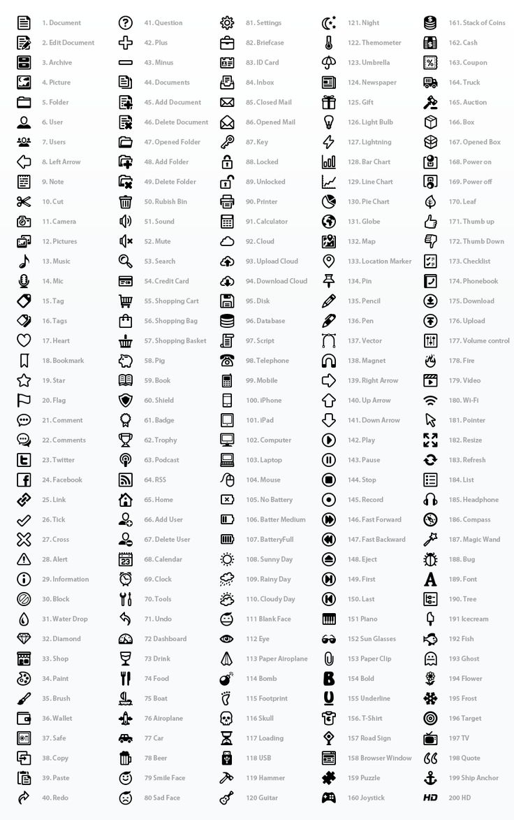 Outline Style Pictogram Set by Web Icon Set (via Creattica)