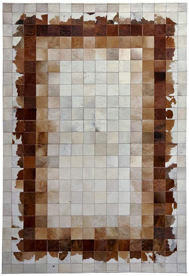 Living Room Cowhide Area Rug 100 Natural Cow Skin Pure Handmade Patchwork Geometric Abstract Plaid Stit In 2020 Area Room Rugs Geometric Carpet Rugs In Living Room
