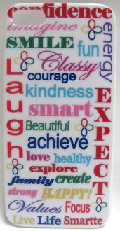Gotta LOVE a Great Sale!!! Look Smartte with this Positive Words  iPhone Cell Phone Case.  Get inspired each time you use your phone with words like:  Confidence, Smile, Laugh, Kindness, Expect, Happy, Healthy, Focus, Imagine, and more!