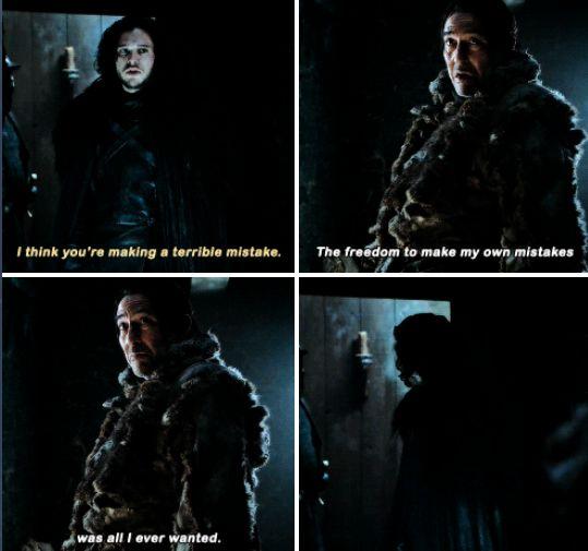 Jon Snow & Mance Rayder - Season 5 Episode 1 | Game of ...
