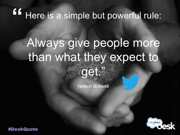 Nelson Boswell #customerservice #quotes