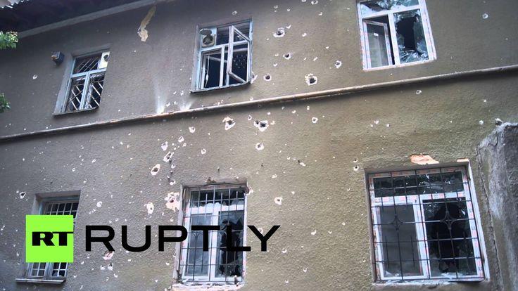 Психиатрическая больница под Славянском подверглась артиллерийскому обст...