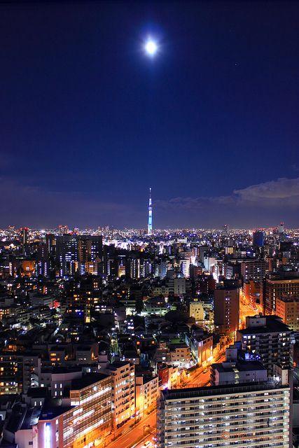 Moonlight Tokyo Japan