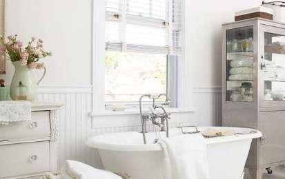 Arredare il bagno in stile shabby chic - Vasca da bagno retrò