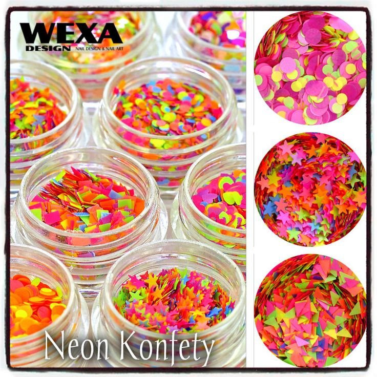 Neon konfety pehy bodky wexa
