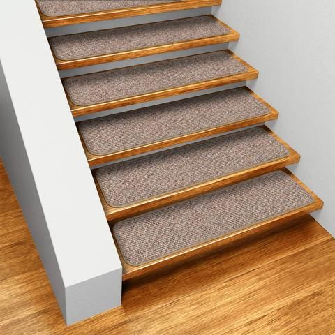 Best Set Of 15 Skid Resistant Carpet Stair Treads Pebble Beige 400 x 300