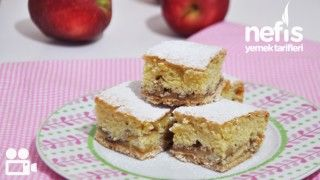Bisküvili Elmalı Pasta Yapımı