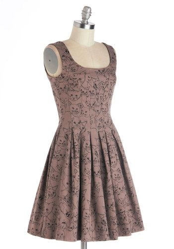You've Got Skillshare Dress in Cats, #ModCloth
