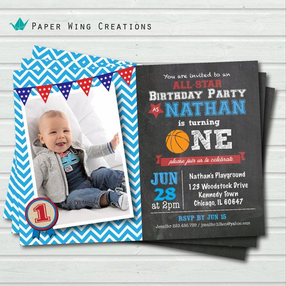 baby boy first birthday invitation 1st by thepaperwingcreation