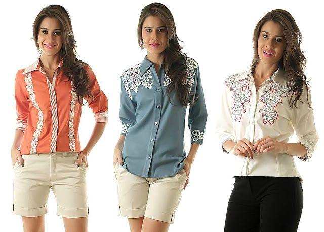 Rosas Confecções: A camisa feminina é uma peça essencial no guarda-r...