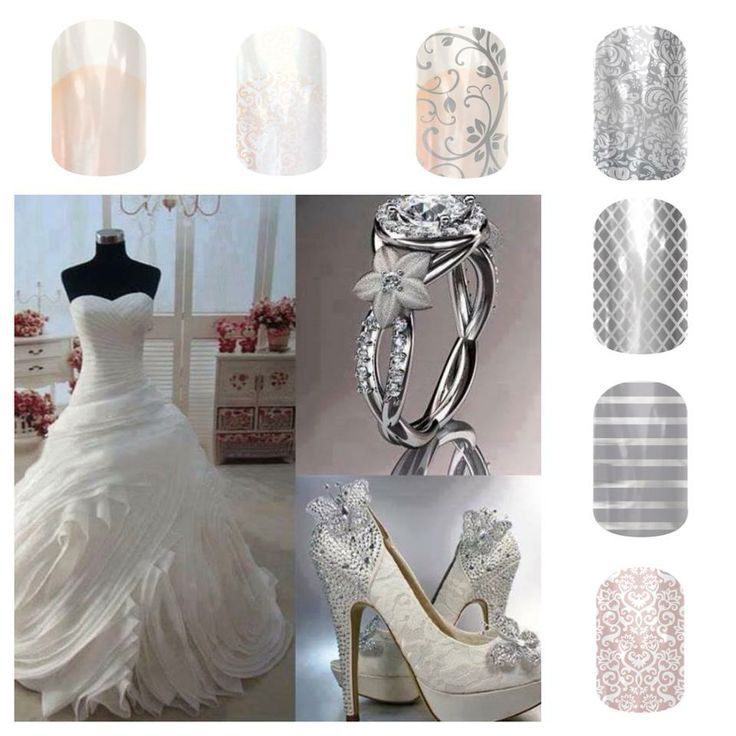 Wedding Nails!!!! We can even coordinate with your bridesmaids dresses!!! Vpoindexter.jamberry.com