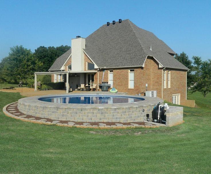 Semi in-ground pool | Dream Home | Pinterest