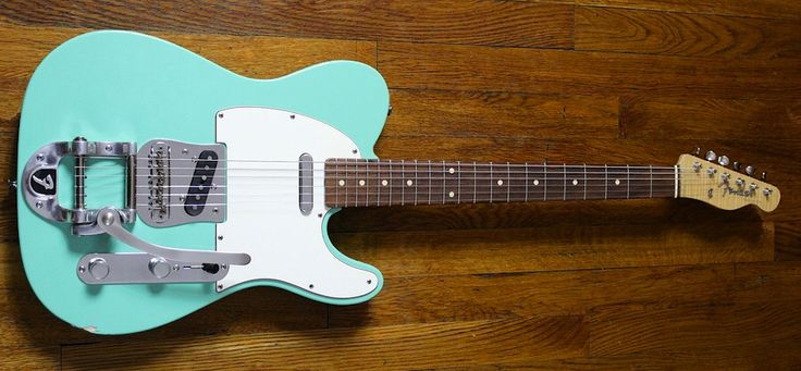 2000 Fender Custom Shop Telecaster with factory Bigsby in Sea Foam Green