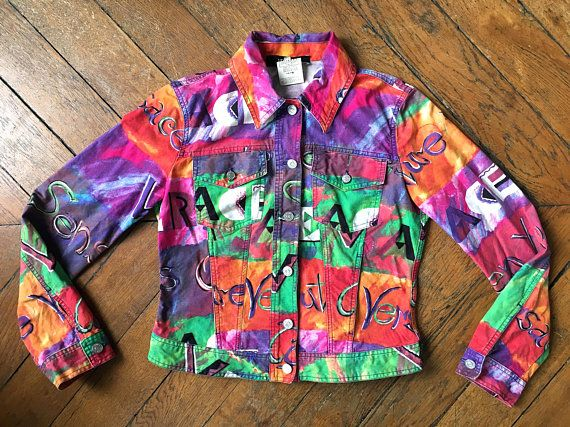 Versace Jean Jacket Floral Print Jacket 90s Versace Classic V2 Etsy Floral Print Jacket Couture Jackets Jackets