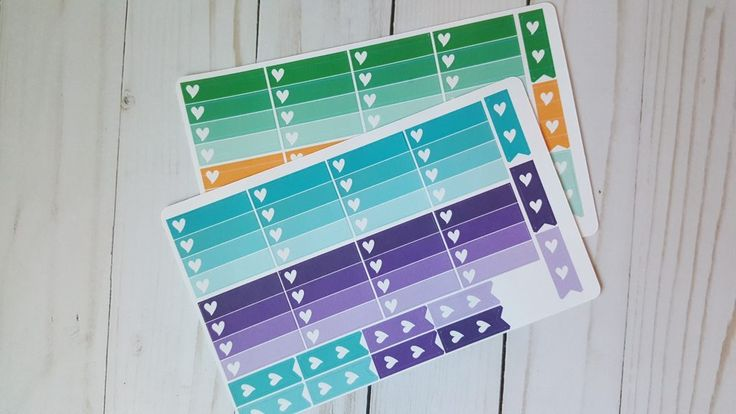 Happy Planner Mini Checklist Stickers - Bright Colors -