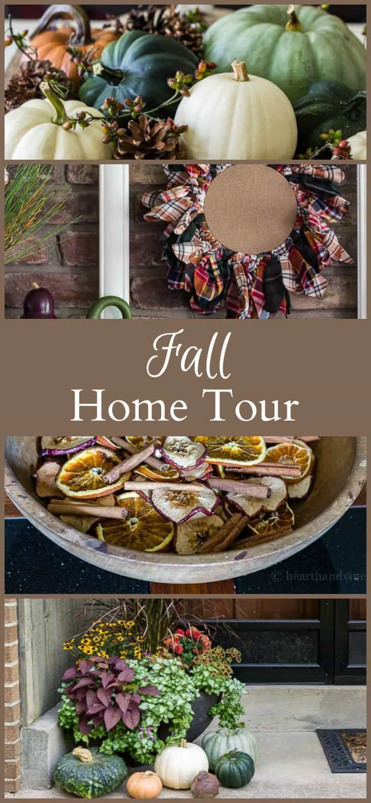 A fall home tour awash with all the beautiful colors of autumn, and filled with several easy diy projects that will inspire your own home decor.