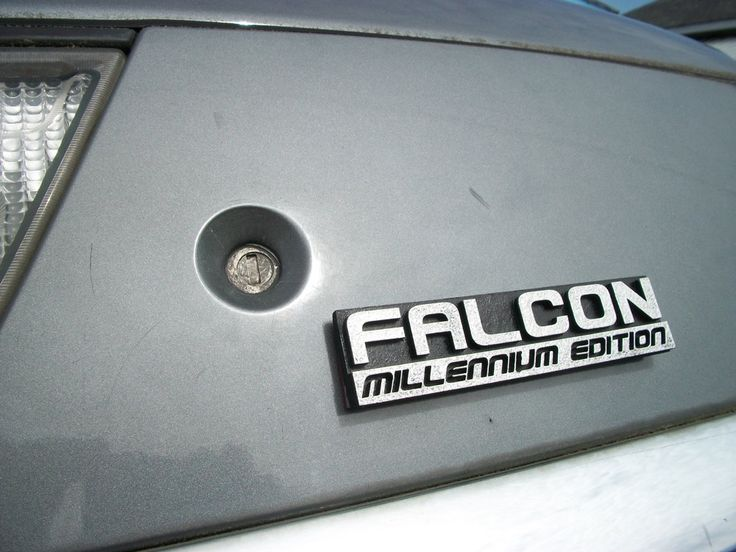 Falcon: Millennium Edition Custom Car Emblem. $12.00, via Etsy.