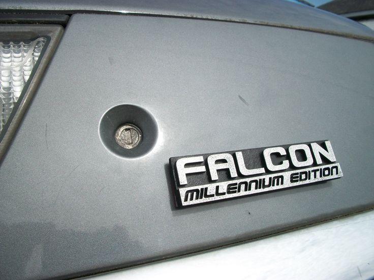 She's got it where it counts -- Falcon: Millennium Edition Custom Car Emblem. $12.00, via Etsy.