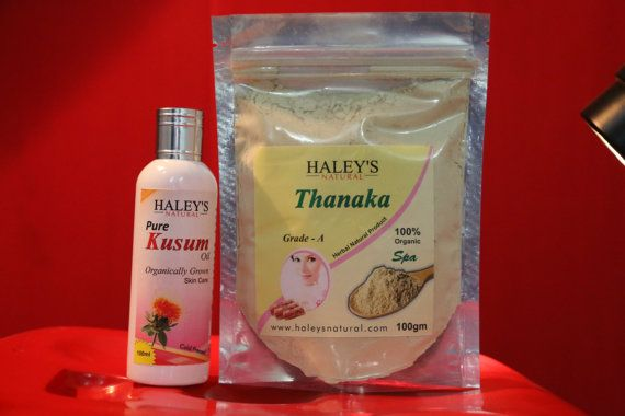 100 gm pure Thanaka Powder and 100 ml kusuma Oil by Haleysnatural