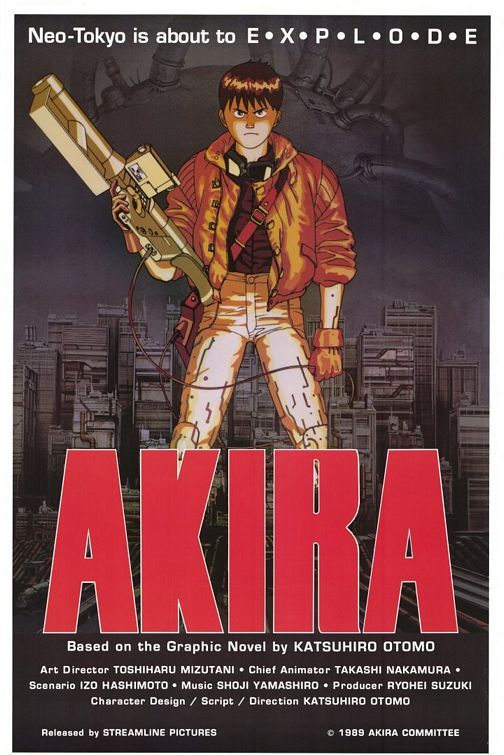 In-Sane. Blood, guts, neo-Tokyo, motorcycles, and so much more. Akira (1988).  Loved this movie.