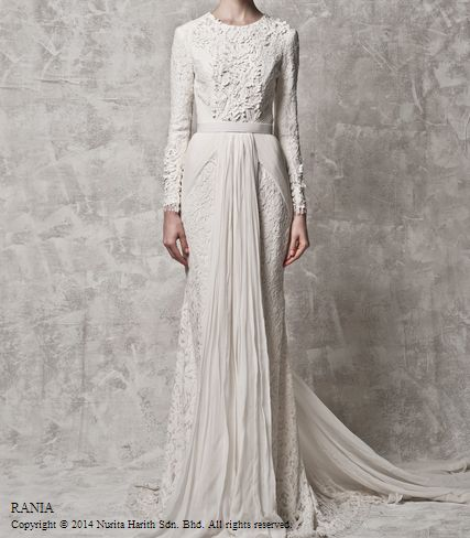 rania by nurita harith - white wedding dress