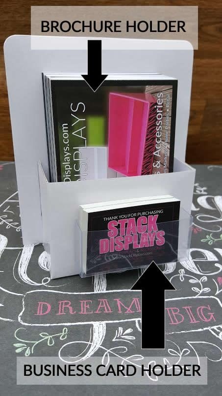 What a cool way to display your brochures and business cards. Great for vendor events or to use at craft shows. Sold by Stack Displays