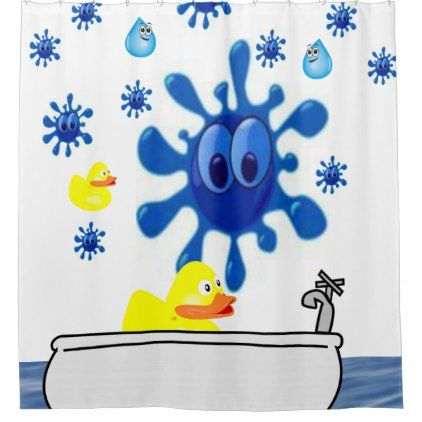 #childrens bathtime yellow ducks shower curtain - #Bathroom #Accessories #home #living
