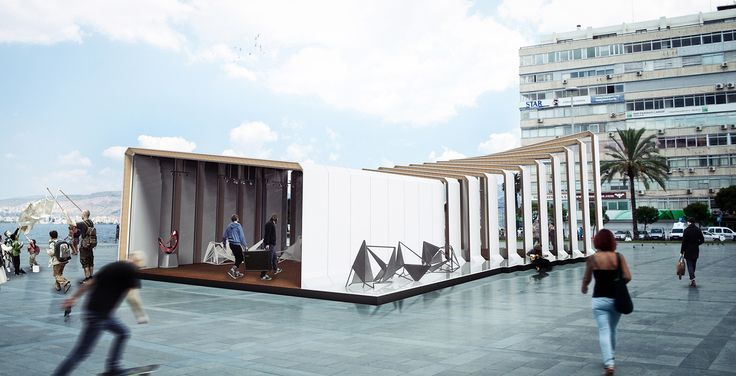 INVASION - a modular, sustainable temporary arts & design pavilion made for the citizens of Izmir.