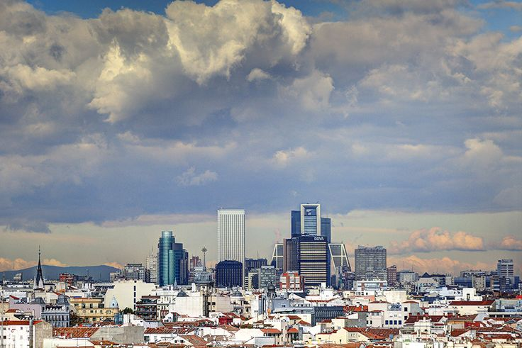Madrid's Northerly skyline on a winter's day.