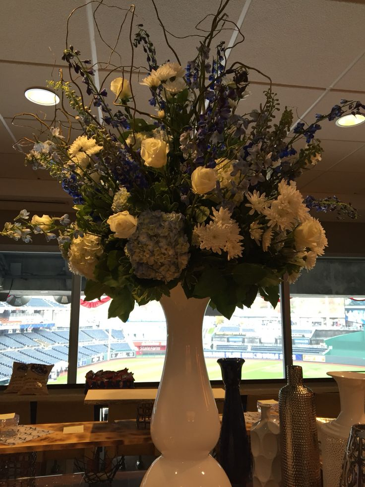 Large floral arrangement we created for one of the suites at Kauffman stadium