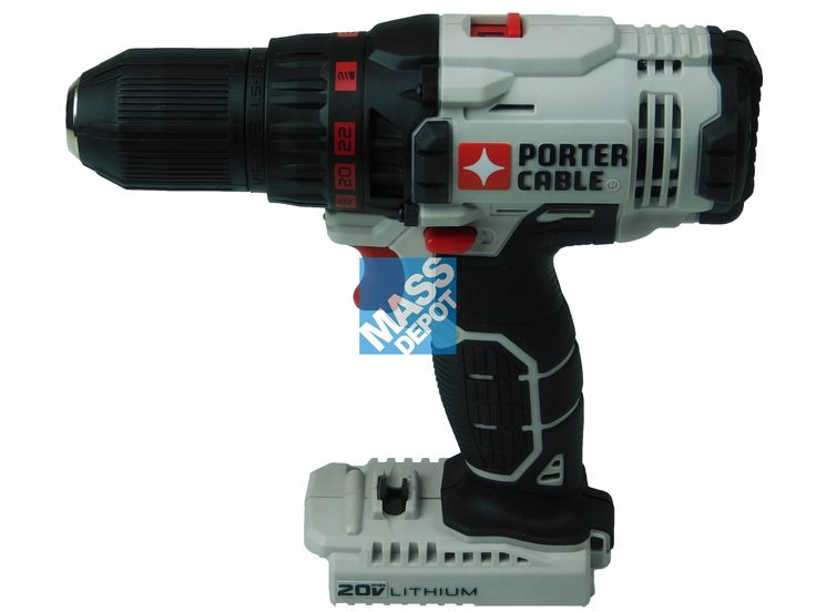 """Porter Cable PCC601 20V 1/2"""" 2-Speed Drill/Driver (Bare Tool)"""