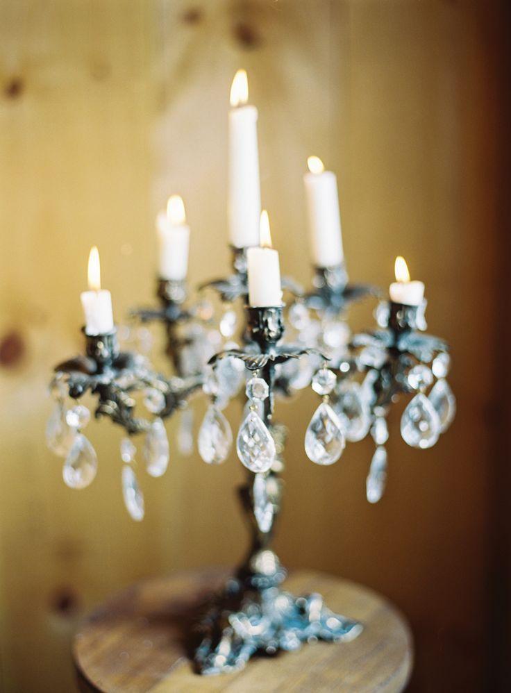 Vintage candelabra used in wedding decor. Image by Jodi Miller Photography.