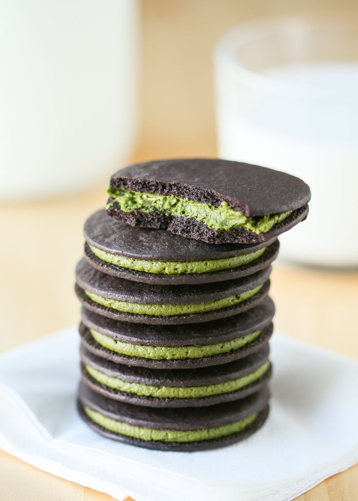Easy Matcha Oreos | Thirsty For Tea