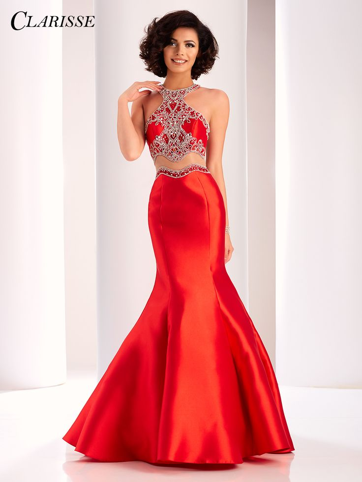 Bright red formal dresses