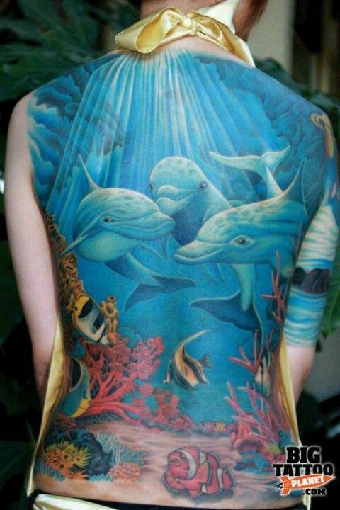 Ocean life tattoo by Jess Yen