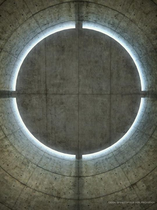 Ceiling of the meditation pavilion in the garden of the UNESCO building in Paris by Tadao Ando. Sublime.
