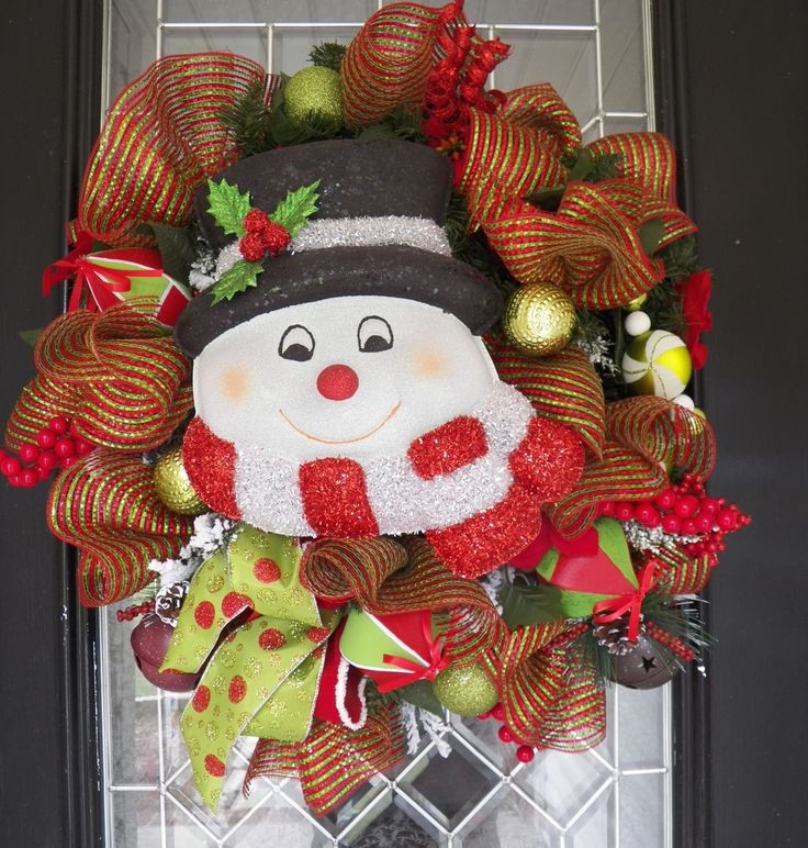 XL Deco Mesh Ruffle Christmas Wreath, Christmas Decoration, Door Hanger, Holiday Wreaths, Front door wreath, Ready to Ship by OccasionsBoutique on Etsy