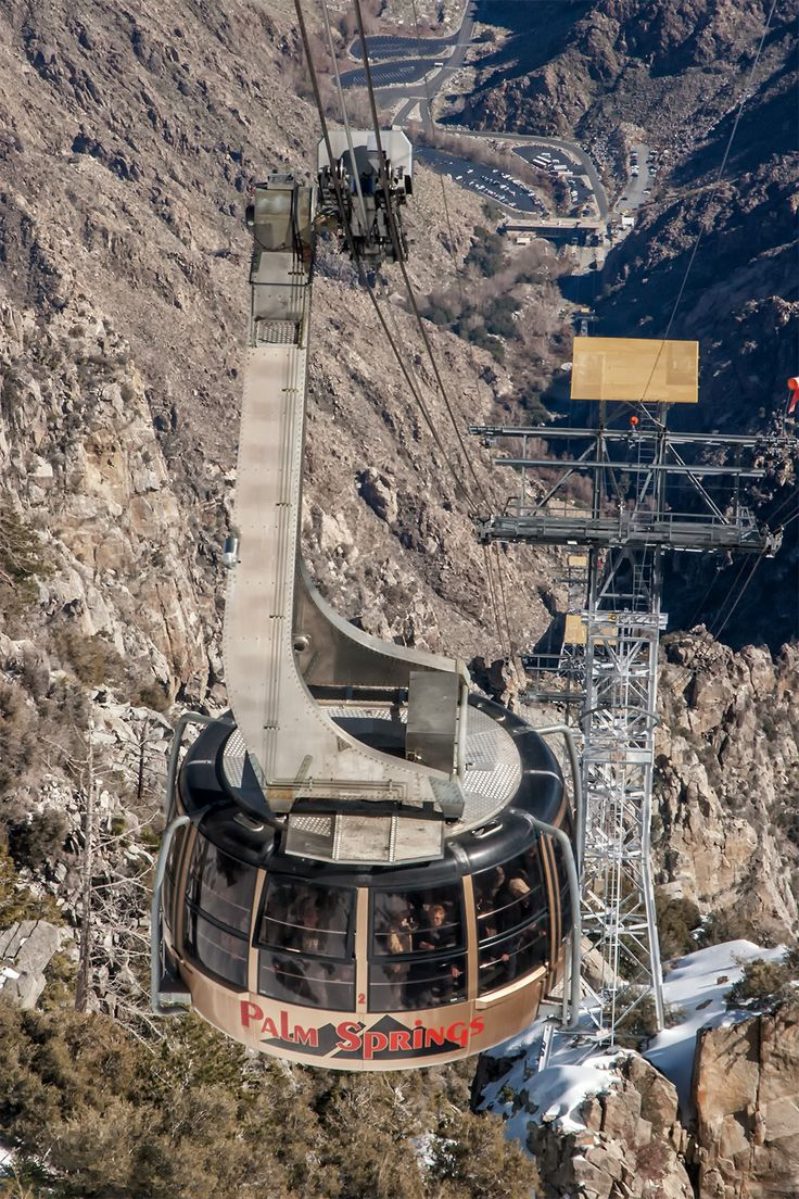 The Palm Springs tram is just one of many things to do in Palm Springs, with great views and hiking at the top