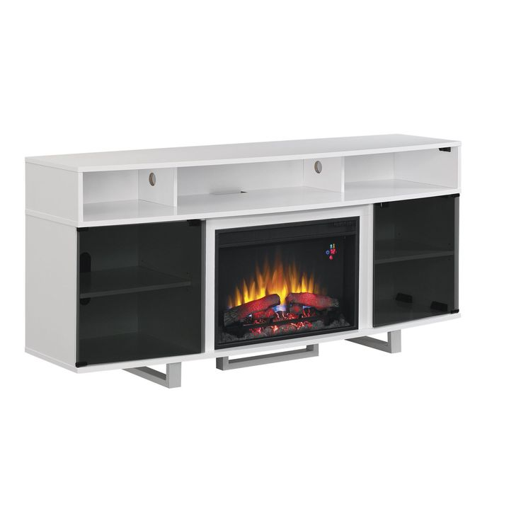 Star Enterprise 26-inch Classic Flame Indoor Fireplace Media Mantel in Glossy