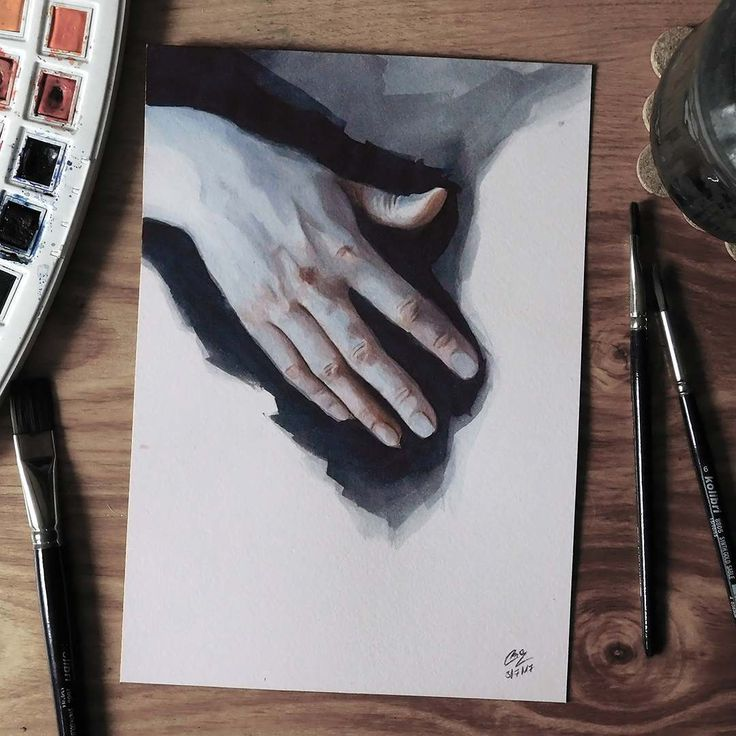 """Páči sa mi to: 3,456, komentáre: 23 – Miroslav Zgabaj (@miro_z_art) na Instagrame: """"Watercolor hand study  #hand #study #watercolor #painting #sketch #art #watercolorpainting…"""""""
