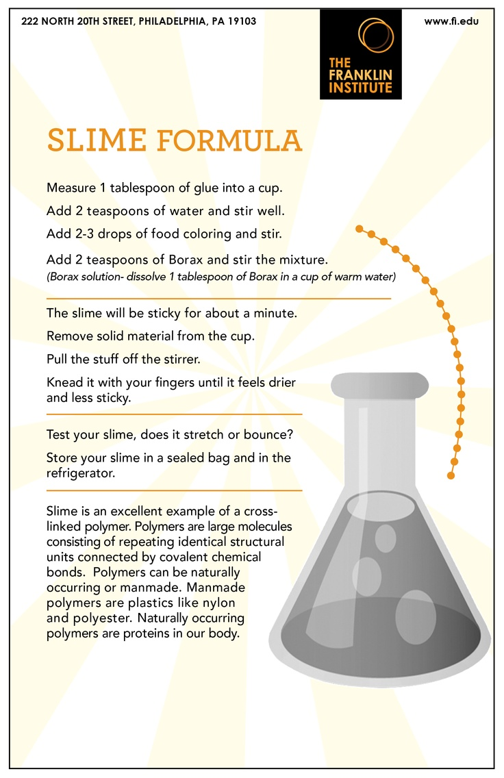 Make your own Slime! #DIY #crafts (The Franklin Institute)