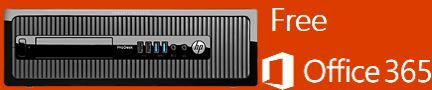 HP ProDesk 400 G2 SFF - M7G86PT (Free Office 365) Intel Core i3-4170 3.7G 3M HD 4400 CPU/2GB DDR3-1600 DIMM (1X2GB) RAM/500GB 7200 RPM SATA 6GB 3.5 HDD/K/M/ Slim SuperMulti ODD/FreeDos 2.0/Warranty 1/1/1