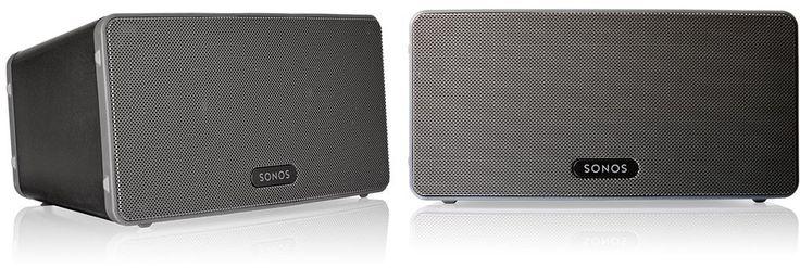 Sonos PLAY3 Black (duo-setje)  Description: Sonos PLAY:3 Black - set van twee speakers Blaas het dak eraf met deze Sonos PLAY:3 Black alles-in-één speler. Dit compacte sexy speakersysteem is in elk interieur passend. De PLAY:3 is een HiFispeakersysteem met drie drivers waarmee de hele kamer gevuld wordt met geluid. Stream je hele muziekverzameling online muziekservices en radiostations en download de gratis app waarmee je deze Sonos PLAY:3 met je Android telefoon iPhone of iPad bedient! Met…